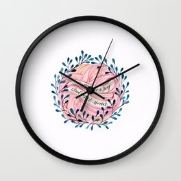 Happiness, Joy, Gladness and Honor Wall Clock