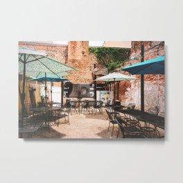 NOLA Dining Courtyard Metal Print