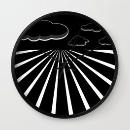 Dark Sky on the Horizon Wall Clock
