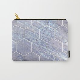 Botanico Porpora - purple marble hexagons Carry-All Pouch