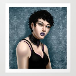 Girl with One Eye Art Print
