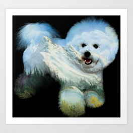 Dog Ross Art Print