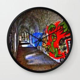Graffiti Tunnel Wall Clock