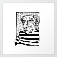 pablo picasso Art Prints featuring Pablo Picasso by Benson Koo
