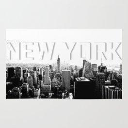 New York Black & White Sketch Rug