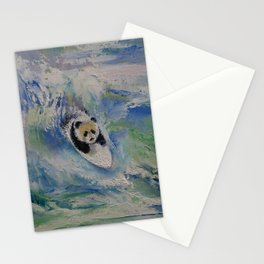 Panda Surfer Stationery Cards