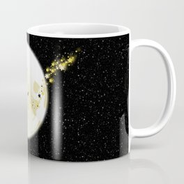Flying Witch over Full Moon Coffee Mug