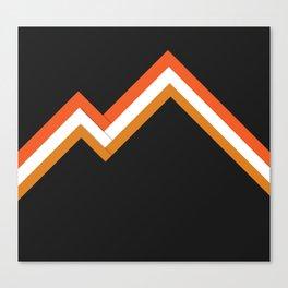 Athletic Retro Orange #kirovair #home #decor #retro #orange #gymwear #athletic #design Canvas Print