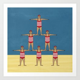 Swimsuit Team 01 Art Print