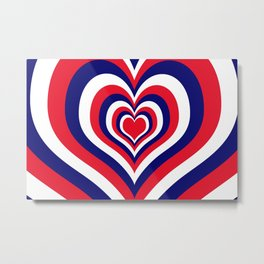 Fourth of July Heart Metal Print