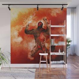 The fire man Wall Mural