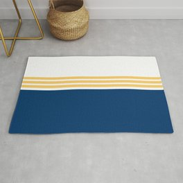 Modern Minimal Striped Blue 01 Rug