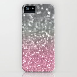 Gray and Light Pink iPhone Case