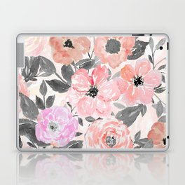Elegant simple watercolor floral Laptop & iPad Skin