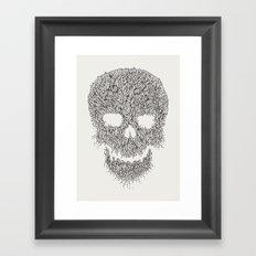 Grey Skull Illustration Framed Art Print