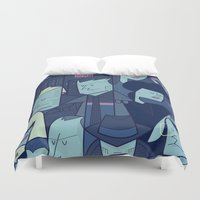 blade runner Duvet Covers featuring Blade Runner by Ale Giorgini