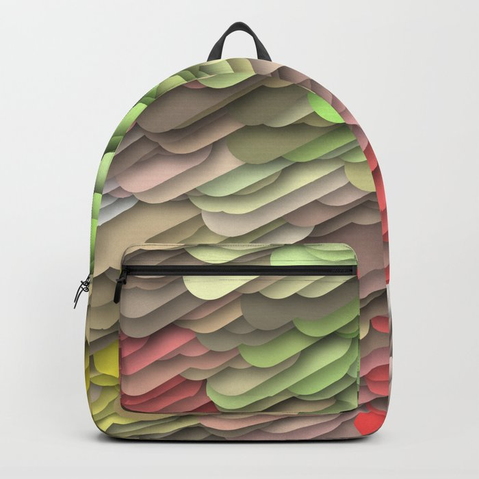 hidden red Backpack