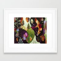 "flora bowley Framed Art Prints featuring ""Deep Peace"" Original Painting by Flora Bowley by Flora Bowley"