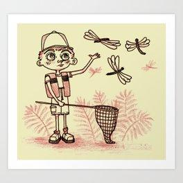 Summer Dragonflies Art Print