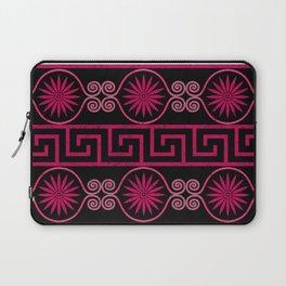 Ornate Greek Bands in Pink Laptop Sleeve