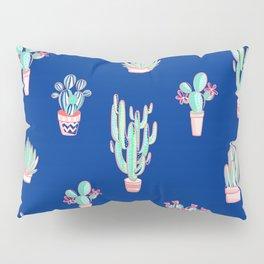 Little cactus pattern - Princess Blue Pillow Sham