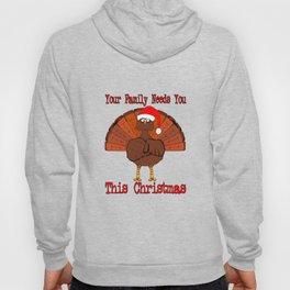 Christmas Turkey Message Hoody
