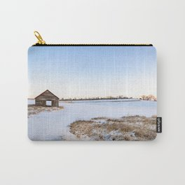 Snowy Barn Landscape Carry-All Pouch