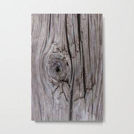 Wood Knot Wood Texture Metal Print