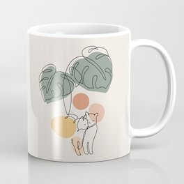 Cat and Plant 36 Coffee Mug