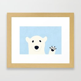 why hello there Framed Art Print