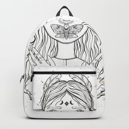 Girl And Buttefly Backpack