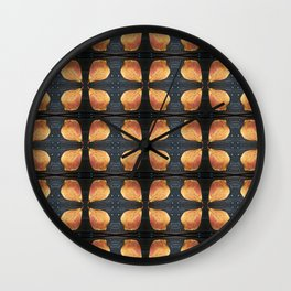 Leaf Pattern with Nailheads Wall Clock