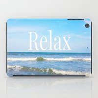 relax iPad Cases featuring Relax by JuniqueStudio
