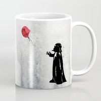 banksy Mugs featuring Little Vader - Inspired by Banksy by kamonkey