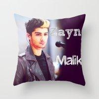 zayn malik Throw Pillows featuring Zayn Malik by Marianna