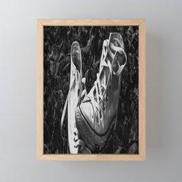 Abandoned Converse Framed Mini Art Print