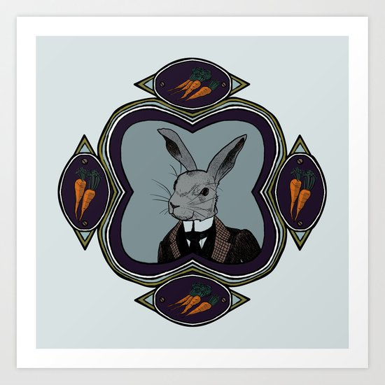 Mr. Rabbit Art Print
