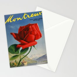 Vintage poster - Montreux, Switzerland Stationery Cards