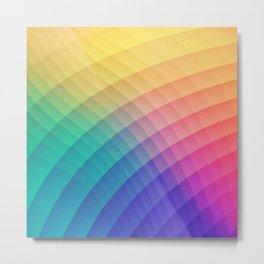 Spectrum Bomb! Fruity Fresh (HDR Rainbow Colorful Experimental Pattern) Metal Print