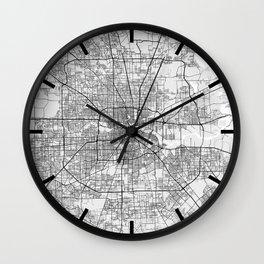 Houston City Map of Texas, USA - Light Wall Clock