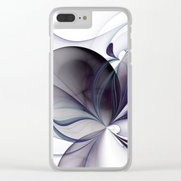 Easiness, Abstract Modern Fractal Art Clear iPhone Case