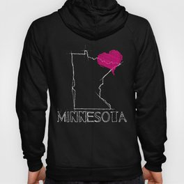 Love Minnesota State Sketch Art Hoody