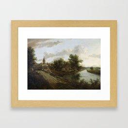 Unknown artist - Landschap met overtoom, 1660 Framed Art Print