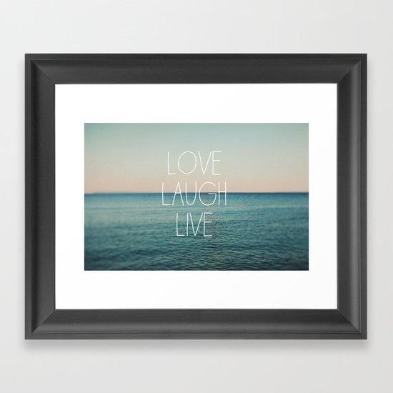 Love Laugh Live #2 Framed Art Print