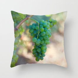 Sauvignon Blanc Grapes on the Vine Throw Pillow