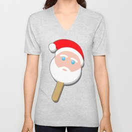 santa clause bubble gum ice cream Unisex V-Neck