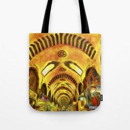 Spice Bazaar Istanbul Van gogh Tote Bag