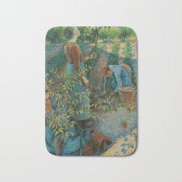 "Camille Pissarro ""Apple Picking"" Bath Mat"