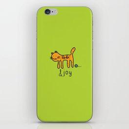 Cute Cat &joy Doodle Drawing iPhone Skin