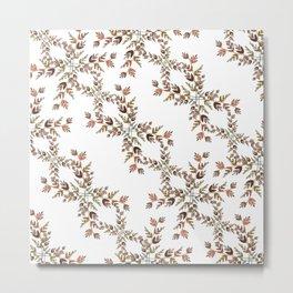 Elegant lace autumn pattern Metal Print
